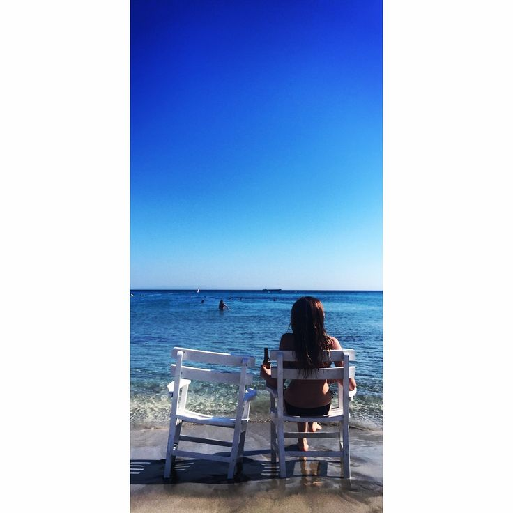 #girl #sea #sky #blue #lonely