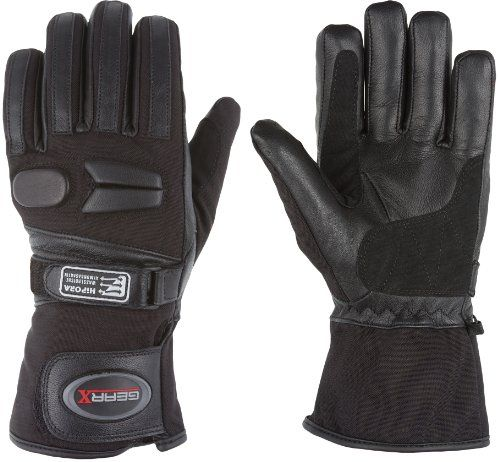 All weather Motorbike Gloves Waterproof Padded Protection (XL)