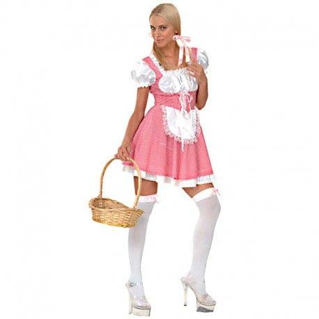 Disfraces Disney mujer| Disfraz de campesina rosa. Contiene vestido con delantal. Talla M. 14,95€ #campesina #campesinarosa #disfraz #disney #disfraces #disfrazdisney