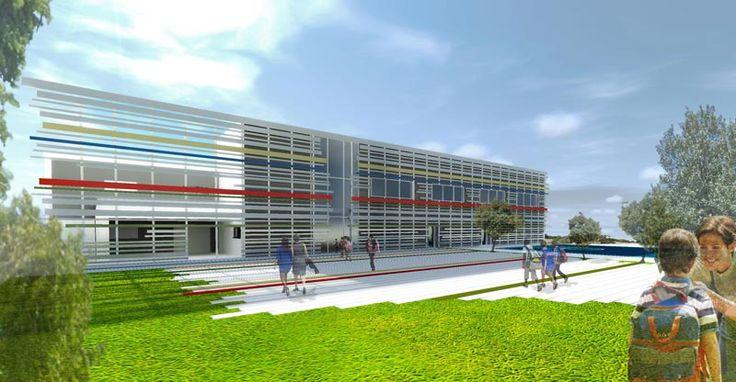 Scuola materna e scuola primaria ad Olbia.  Too many vertex rendering.