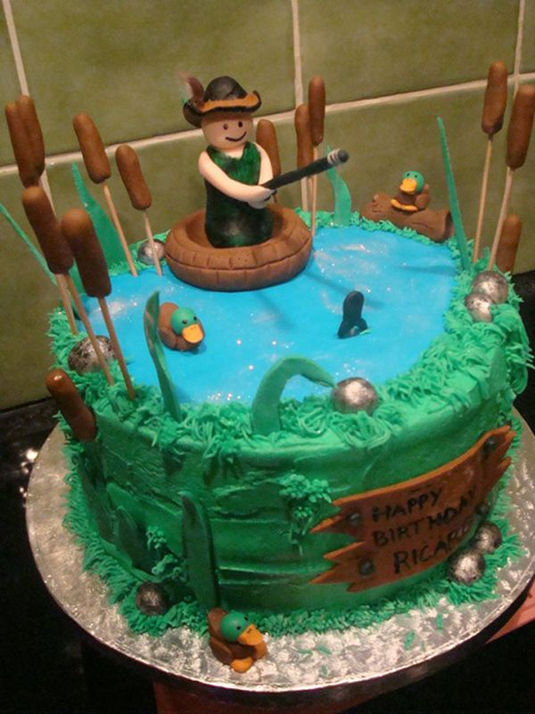 43 best images about books on pinterest bass fish cake for Fishing cake ideas
