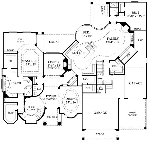 800 best images about dream houses i like on pinterest for Sewing room floor plans