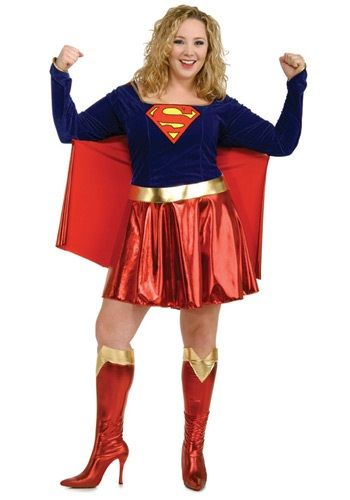 Find your inner superhero in this adult plus size Supergirl costume. This sexy adult Halloween costume is a plus size version of our Supergirl costume.