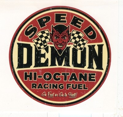Speed demon decal sticker rat hot rod tool box