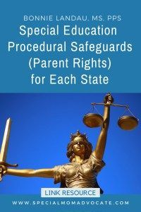 Parents Know Your Special Education >> Special Ed Procedural Safeguards Parent Rights For Each State