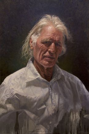 Portrait of Russell Petherbridge, by Andrew Tischler. FREE painting demo out now!