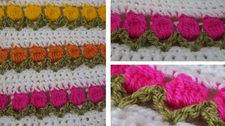 FREE Tulip Stitch pattern (Crochet) - intheloopcrafts.blogspot.com