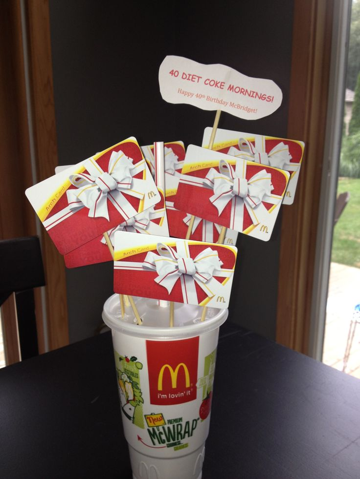 McDonalds gift card $5 would be perfect!