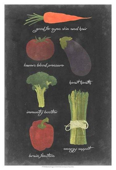 Blackboard Veggies I by Vision studio art print