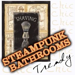 Steampunk Decor For the Bathroom - Stunning and Unusual Have you been wanting to add some Steampunk to your decor, but were not really sure you wanted to plunge in all the way? I can't blame you, there is nothing worse than spending a lot of money to redecorate only to realize a month later t