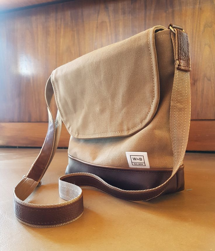 Made To Order Canvas and Leather Cross Body Satchel - W & B