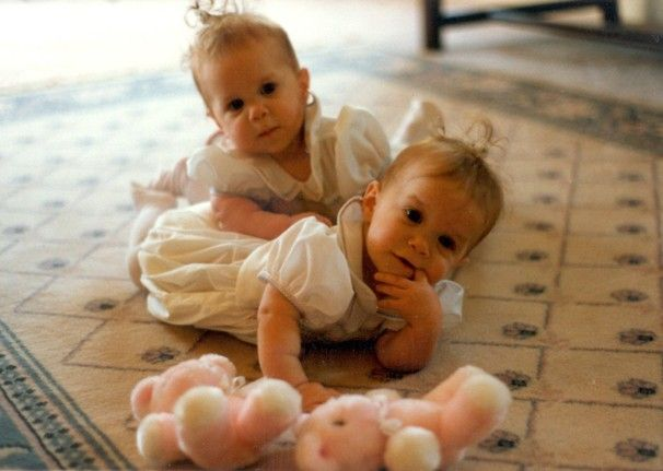 mk a when they were little babies on full house. They look a lot like my little sister