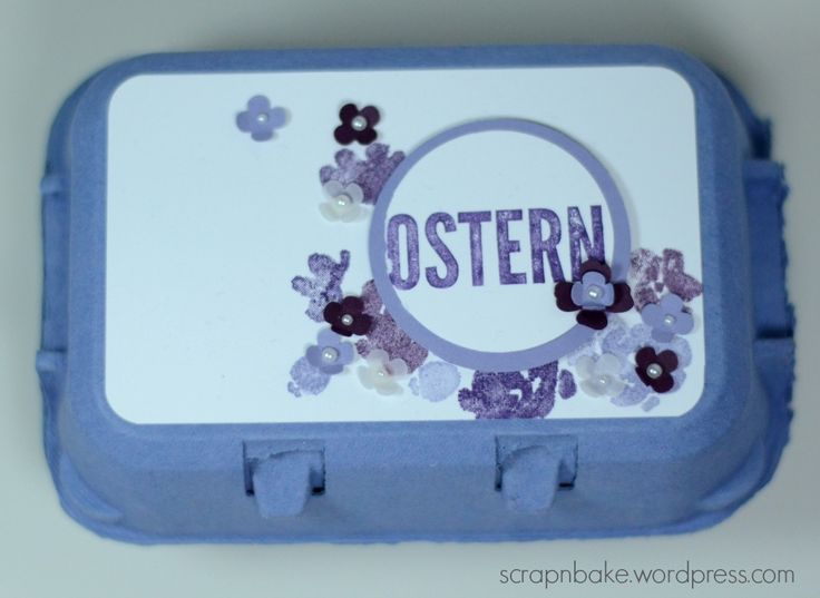 Stampin' UP! - Ostern - Easter - eierkarton - Verpackung - painted Petals - goodie - egg carton