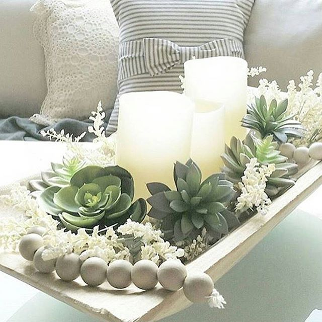 Dining Room Centerpiece, Bowl Centerpieces, Dinning Table, Dining Rooms,  Vintage Farmhouse Decor, Farmhouse Style, Cottage Style, Dough Bowl, Sun  Room