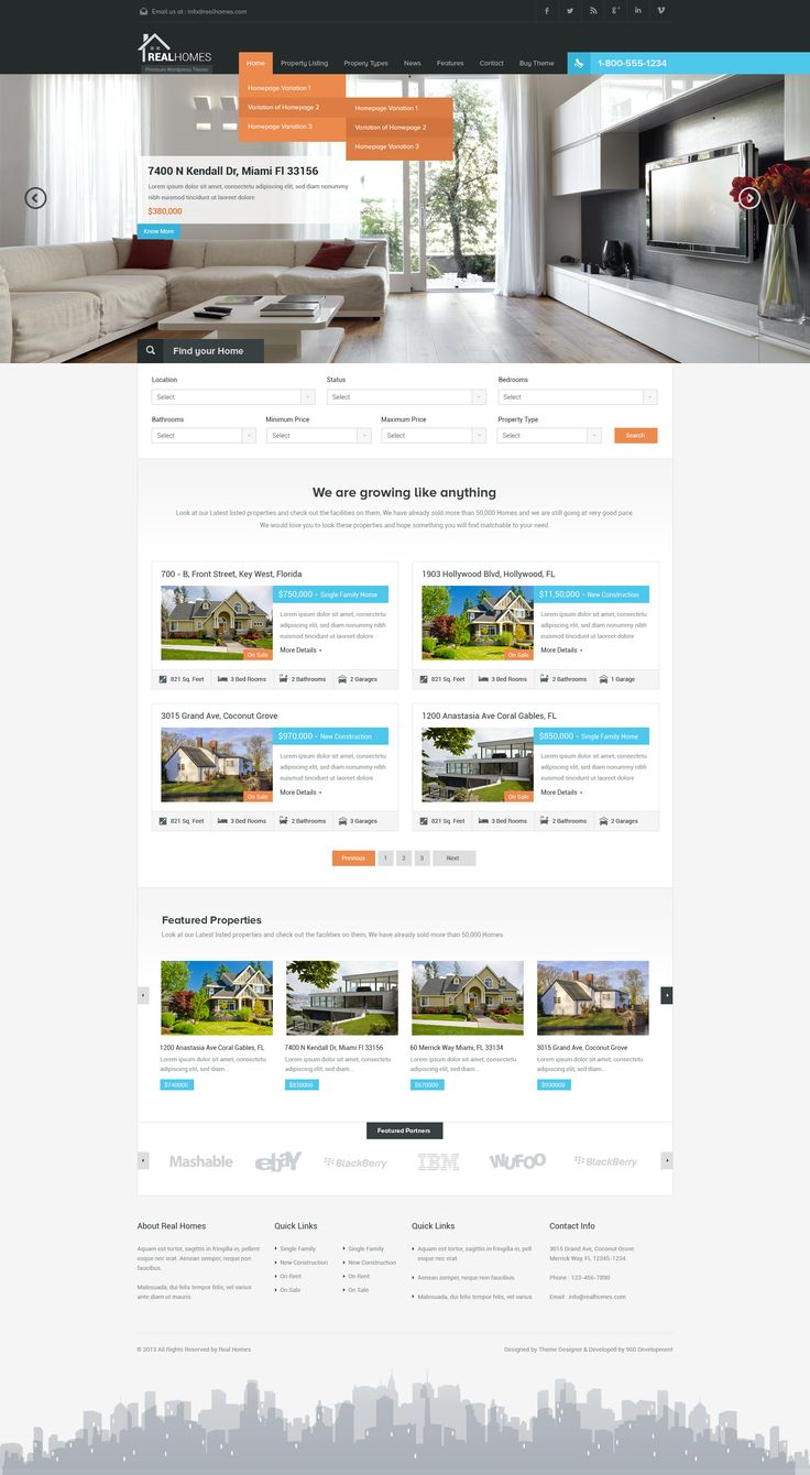 Real Homes - Real Estate PSD Theme by Sunil Joshi
