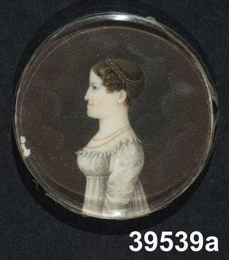 Portrait of a Finnish woman, by Marie Victoire Lemoine, 1816. Nordiska Museet, nr. NM.0039539A-C