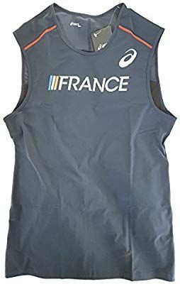 20ef7674a01 Asics Pro Elite Running Vest Singlet FRANCE Athlete Issue Only Kit Track  And Field Men's XXL: Amazon.co.uk: Sports & Outdoors