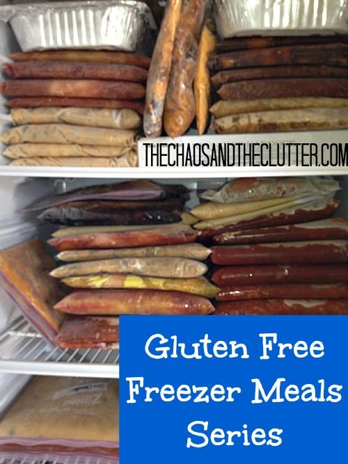 Gluten Free Freezer Meals Series - excellent resource! I'm sending this to you, so you can share it with Stacy.