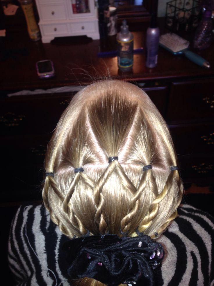 Gymnastics Hairstyle Hairstyles Pinterest Twists
