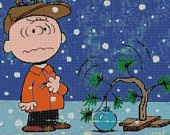 Peanuts Charlie Brown Christmas Tree Handmade Cross-Stitch Pattern