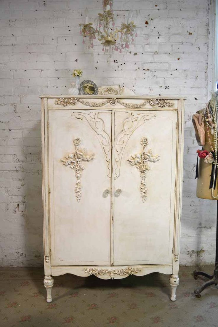 Painting furniture shabby chic - Armoire Painted Cottage Chic Shabby French Romantic Armoire