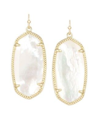 Elle Earrings in Ivory Pearl
