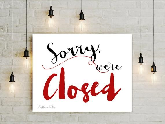 Instant Download Sorry We Re Closed Business Door Sign Store Window Display For Restaurant Front Door Decor In 2021 Store Window Display Business Signs Door Signs