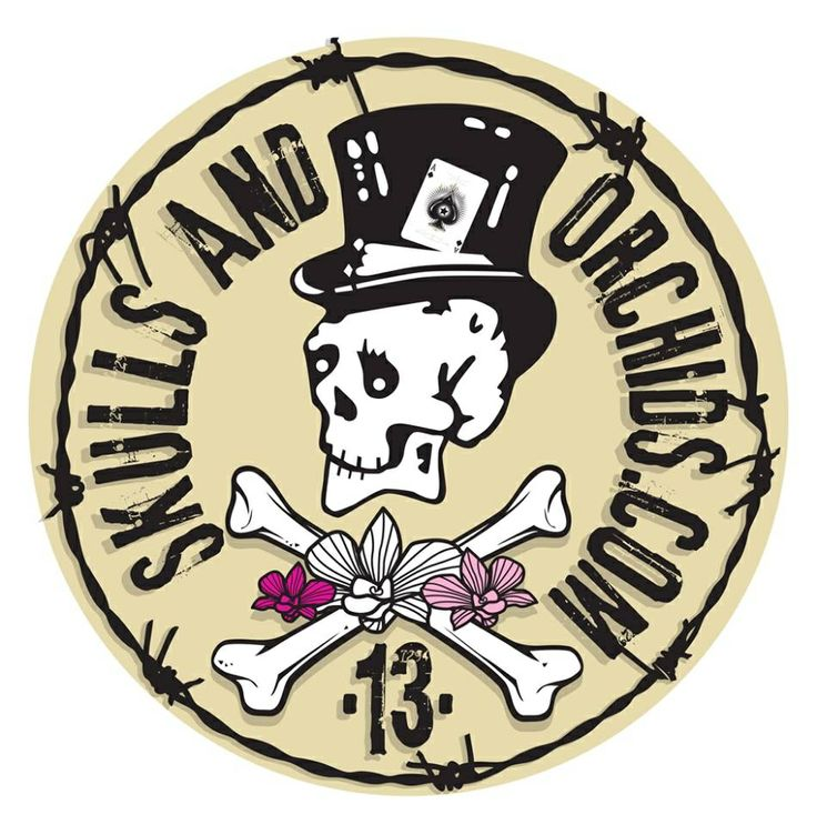 Skulls and Orchids logo