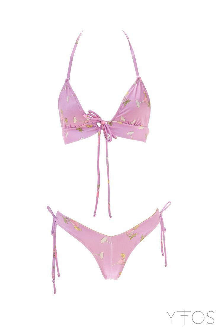 'Nicky' Violet Printed Bikini