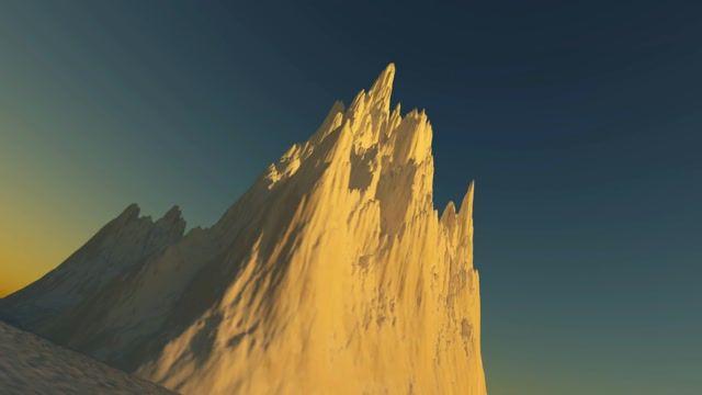 Dutch Angle Frozen Mountain on the Tundra Motion Background - VideoBlocks