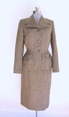 1950s Sybil Connolly Donegal Tweed Suit