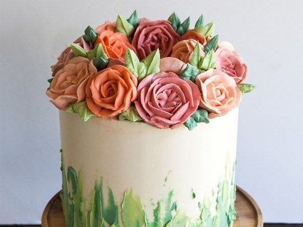 6 Buttercream Icing Cake Decorating Ideas In 2020 Buttercream