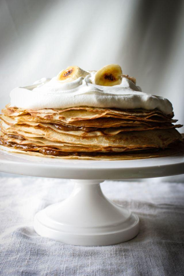 Bananas Foster Crepe Cake with Bananas | Food, Glorious Food | Pinter ...