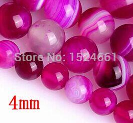 Diy 4 мм 90 шт. роуз полосатый агат бусины кристалл широкий бусины diy комплект ** спейсерной бусины оптовая продажа мода ювелирные изделия из натурального камня