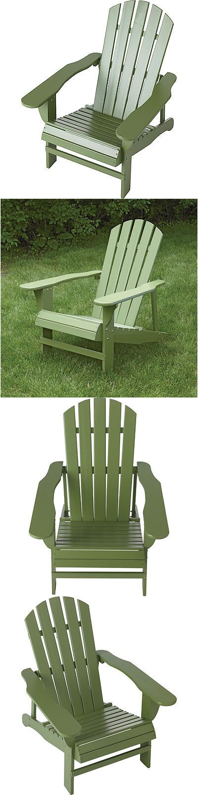 Chairs 79682: Classic Sage Painted Wood Adirondack Chair -> BUY IT NOW ONLY: $59.99 on eBay!