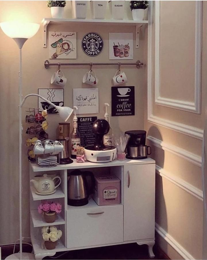 Pin By Mnoonh Am On My Favorite Coffee Decor Kitchen Coffee Bar Design Coffee Bar Home
