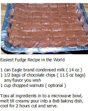 Ill have to try this! Easiest Fudge Recipe
