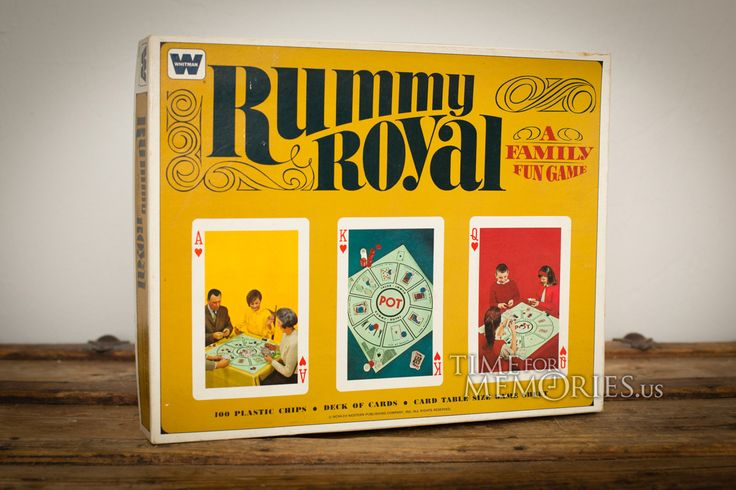 For sale here is a vintage 60s Rummy Royal card game (AKA Michigan Rummy) from Whitman (4804), complete and unused in the original box.