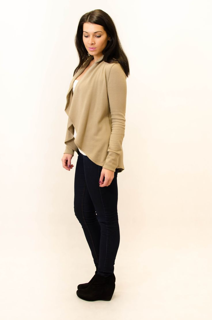 Women cardigan in sand colour! www.kadunda.cz