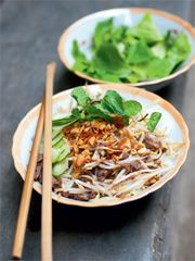 Rezept von Tom Vandenberghe: Reis Vermicelli mit Rindfleisch
