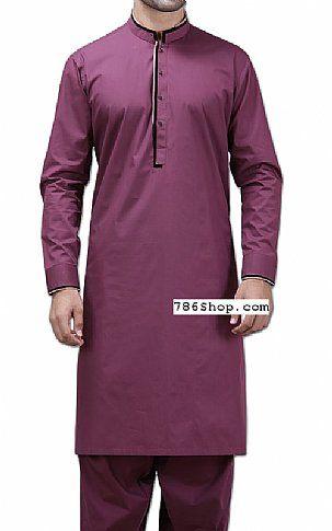Magenta Men Shalwar Kameez Suit   Buy Pakistani Indian Dresses