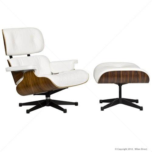 Lounge Chair and Ottoman - Eames nádherně nadčasové křeslo