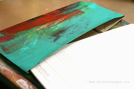Balzer Designs: Paper Bag Book Cover Art Journal Everyday post