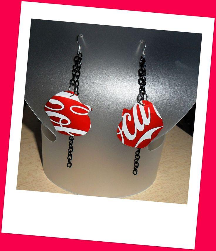 earrings - coca cola