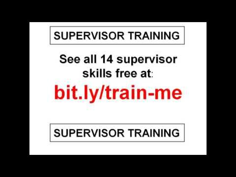 Supervisor Training PowerPoint PPT