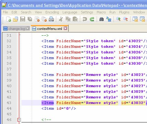 Notepad++ Column Mode Editing