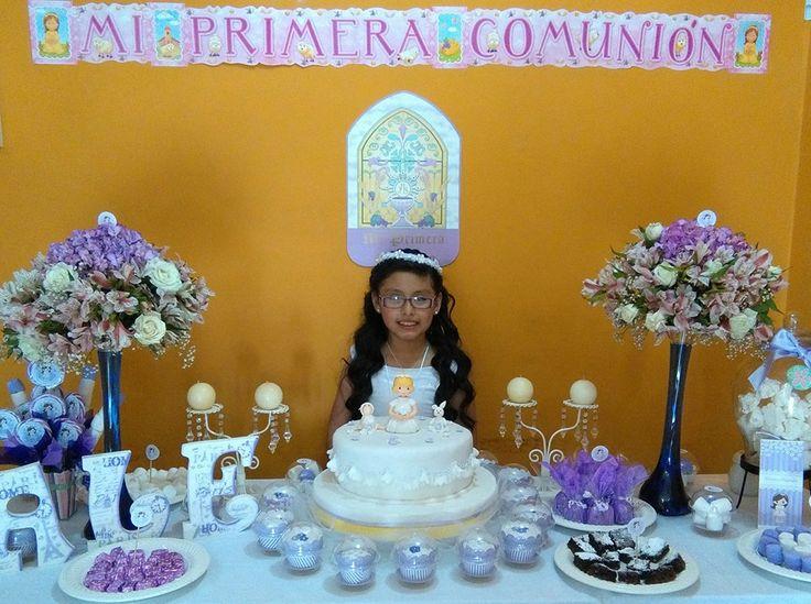 mesa de primera comunión