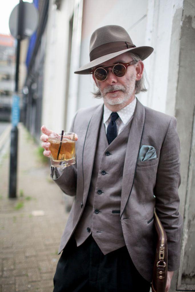 Εβδομάδα Μόδας στυλ του δρόμου στο Λονδίνο Ανδρών