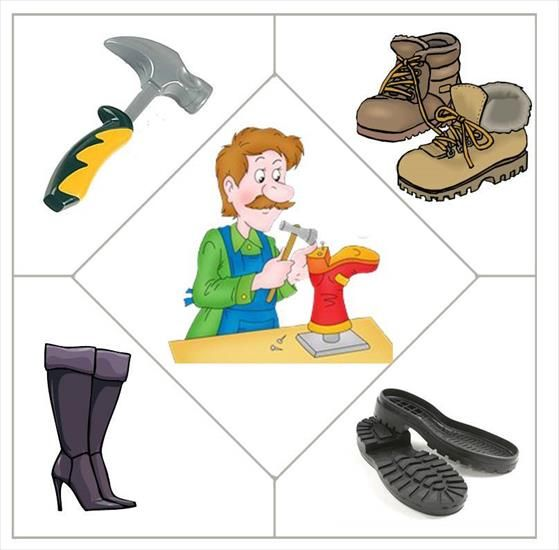 wat hoort er bij een schoenmaker?