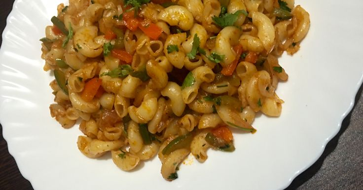 Indian style veg macaroni Pasta recipe with step by step process. This delicious Macaroni recipe is tried and tested.